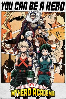 My Hero Academia - Be a Hero Plakat