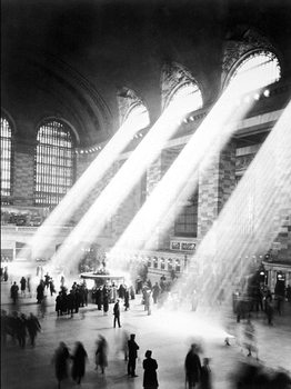 NEW YORK - Sunbeam in Grand Central Station Kunsttryk