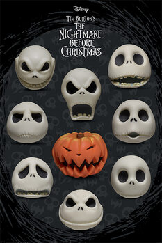 Nightmare Before Christmas - Many Faces of Jack Plakat