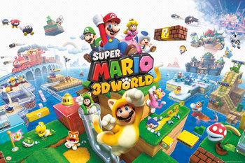 Nintendo - Mario 3D world Plakat