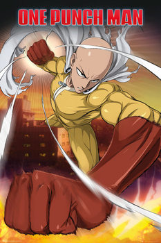 One Punch Man - Saitama Plakat