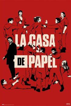 Plakat Papirhuset (La Casa De Papel) - All Characters