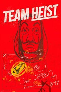 Plakat Papirhuset (La Casa De Papel) - Team Heist