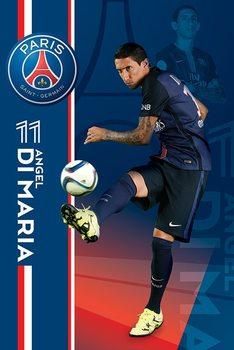 Paris Saint-Germain FC - Angel Di Maria Plakat