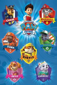 Paw Patrol - Crests Plakat
