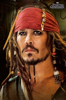 PIRATES OF THE CARIBBEAN 4 - red bandana Plakat
