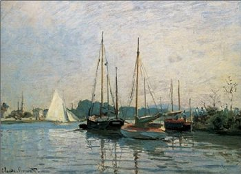 Pleasure Boats, Argenteuil, 1872-3 Kunsttryk
