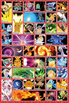 Pokémon - moves Plakat