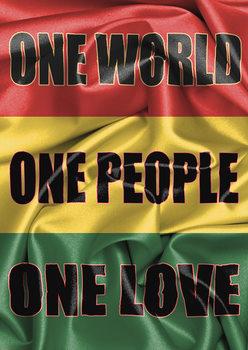 Plakat Rasta Flag - One Love