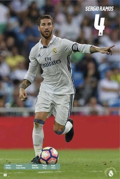 Real Madrid 2016/2017 - Sergio Ramos Accion Plakat