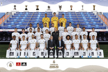 Real Madrid 2019/2020 - Team Plakat