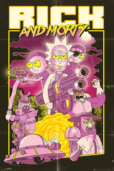 Plakat Rick and Morty - Action Movie