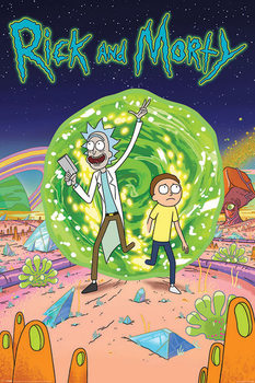Rick & Morty - Portal Plakat