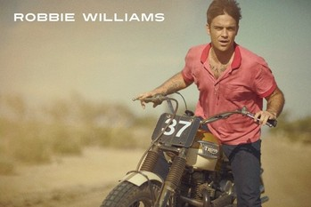 Robbie Williams - bike Plakat