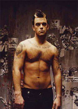 Robbie Williams - topless Plakat
