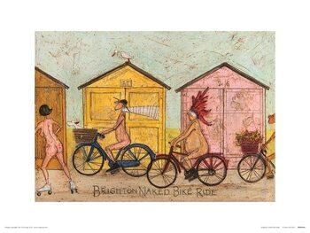Sam Toft - Brighton Naked Bike Ride Kunsttryk