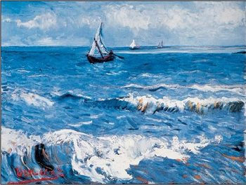 Seascape at Saintes-Maries, 1888 Kunsttryk