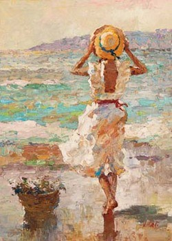 Seaside Summer I Kunsttryk