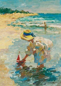 Seaside Summer II Kunsttryk