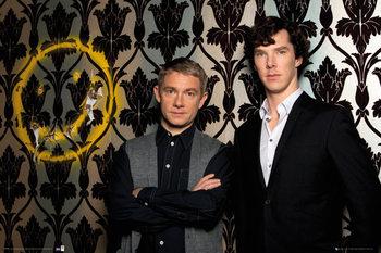 Sherlock - Smiley Plakat