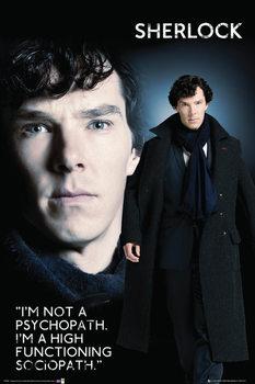 Sherlock - Sociopat Plakat