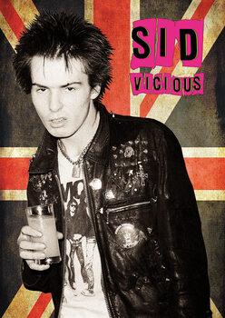 Plakat Sid Vicious - Union Jack