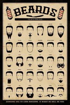 Skæg - The Art of Manliness Plakat