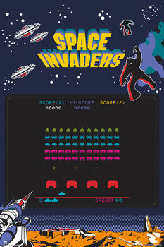 Space Invaders - Screen Plakat