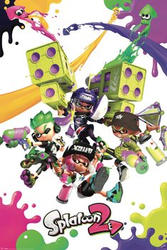Splatoon 2 - Colour Splats Plakat