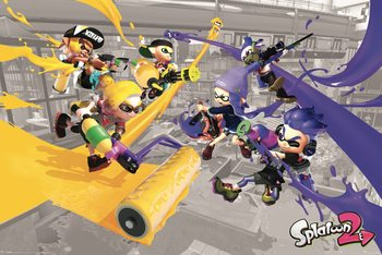 Splatoon 2 - Paint Battle Plakat