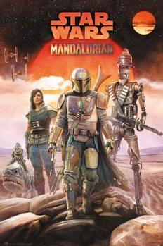 Star Wars: Mandalorian - Crew Plakat