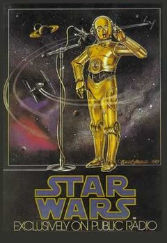 STAR WARS - radio drama Plakat