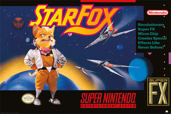 Super Nintendo - Star Fox Plakat