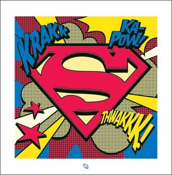 Superman - Pop Art Shield Kunsttryk