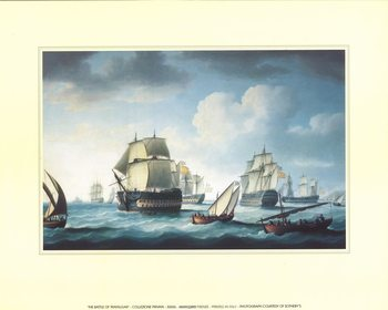 The Battle Of Trafalgar Kunsttryk