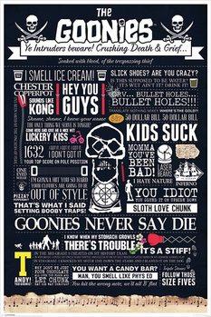The Goonies - Typographic Plakat