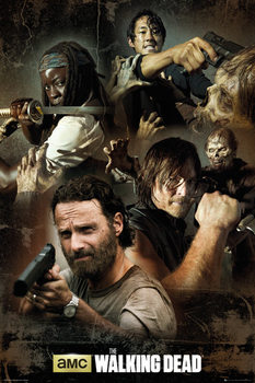 The Walking Dead - Collage Plakat