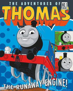 Thomas Tog - Runaway Train Plakat