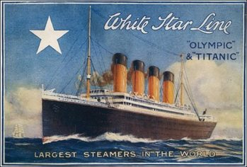 Titanic - White Star Line Kunsttryk