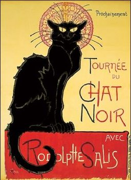 Tournée de Chat Noir - Black Cat Kunsttryk