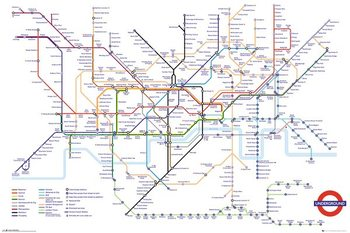 Transport For London - Underground Map Plakat
