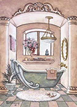 Vintage Bathtub ll Kunsttryk