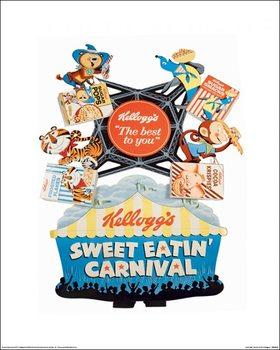 Vintage Kelloggs - Sweet Eatin' Carnival Kunsttryk