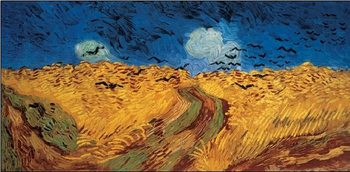 Wheatfield with Crows, 1890 Kunsttryk