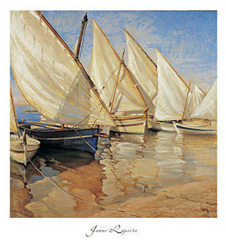 White Sails I Kunsttryk