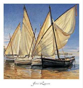 White Sails II Kunsttryk
