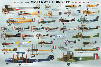 World war I - aircraft Plakat