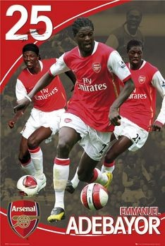 Arsenal - adebayor 07/08 Plakat