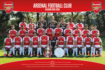 Arsenal FC - Team Photo 15/16 Plakat