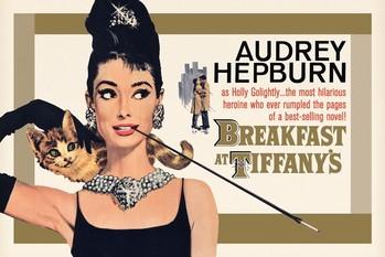 AUDREY HEPBURN - gold one sheet Poster